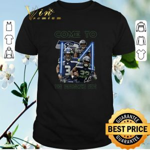 Awesome Signatures Come To The Seattle Seahawks Side Star Wars shirt