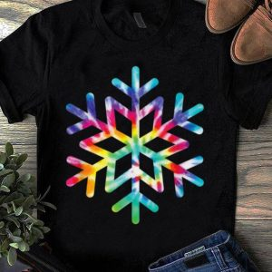 Awesome Snowflake Tie Dye Christmas Hippie Retro Holiday Xmas Gift shirt