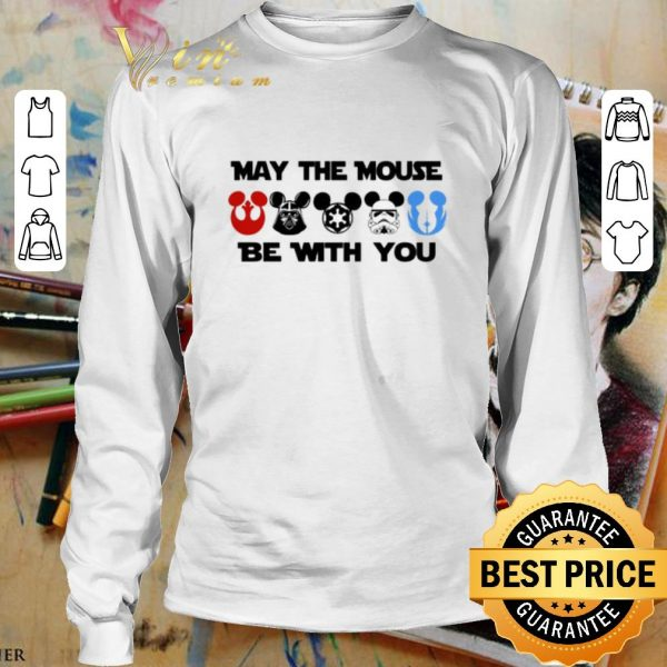 Awesome Star Wars characters version Mickey may the mouse be with you shirt