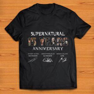 Awesome Supernatural 15 Years Anniversary Signatures shirt