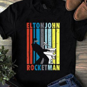 Awesome Vintage Elton John Playing Piano Peanuts Rocketman shirt