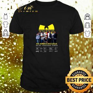 Awesome Wu Tang Clan An American Saga 1992-2019 signatures shirt