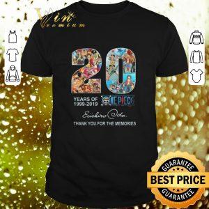 Best 20 Years of One Piece Oda Eiichiro thank you for the memories shirt
