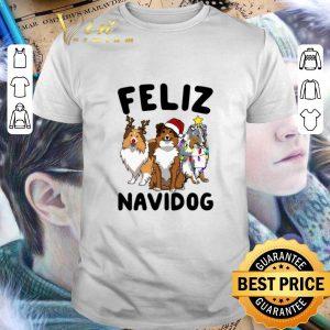 Best Feliz Navidog Shetland Sheepdogs Christmas shirt