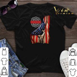 Firefighter Logo American flag shirt sweater