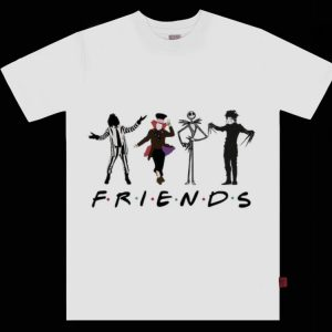 Funny Horror Characters Jack Skellington Friends shirt