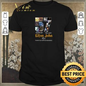 Funny Thank You For The Memories 57 Years Of Elton John 1962-2019 shirt