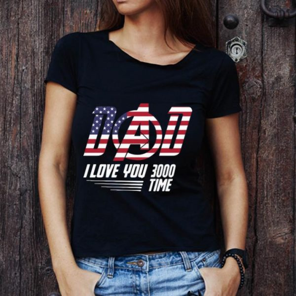 Great Dad I Love You 3000 Time American Flag Iron Man shirt