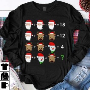 Great Order Of Operations Quiz Math Santa Reindeer Christmas shirt