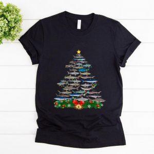 Great Shark Christmas Tree Shark Lovers Christmas shirt