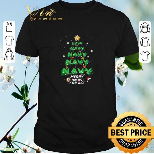Hot Christmas Navy Merry XMas For All shirt