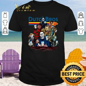 Hot Dutch Bros Coffee Horror movie characters shirt 2020