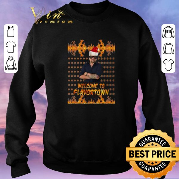 Hot Guy Fieri Welcome to Flavortown Ugly Christmas shirt sweater