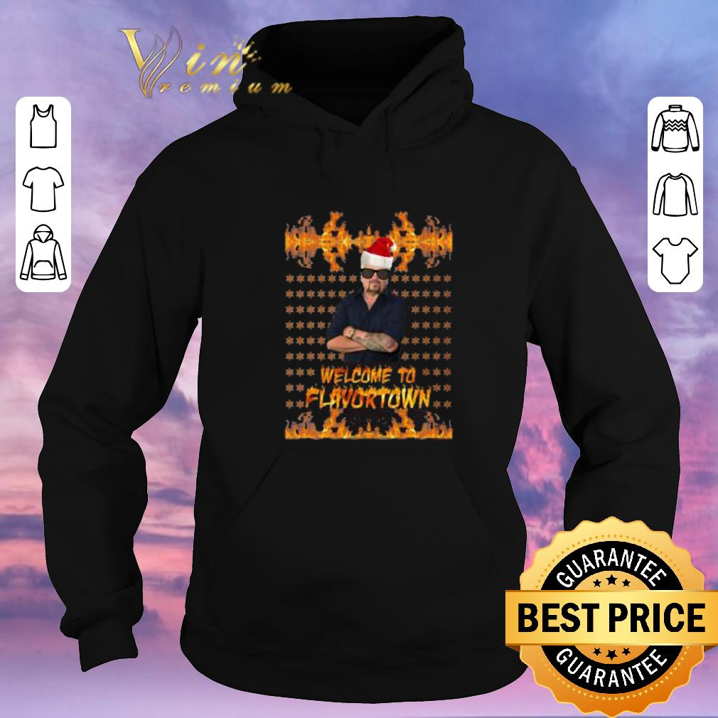 Hot Guy Fieri Welcome to Flavortown Ugly Christmas shirt sweater 4 - Hot Guy Fieri Welcome to Flavortown Ugly Christmas shirt sweater