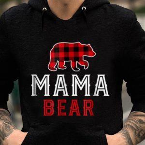 Hot Mama Bear Red Plaid Buffalo Matching Family Pajama sweater