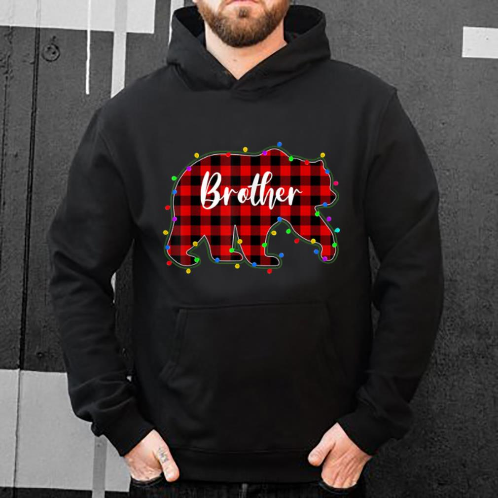 Hot Red Plaid Brother Bear Xmas Lights Matching Pajama Family sweater 4 - Hot Red Plaid Brother Bear Xmas Lights Matching Pajama Family sweater