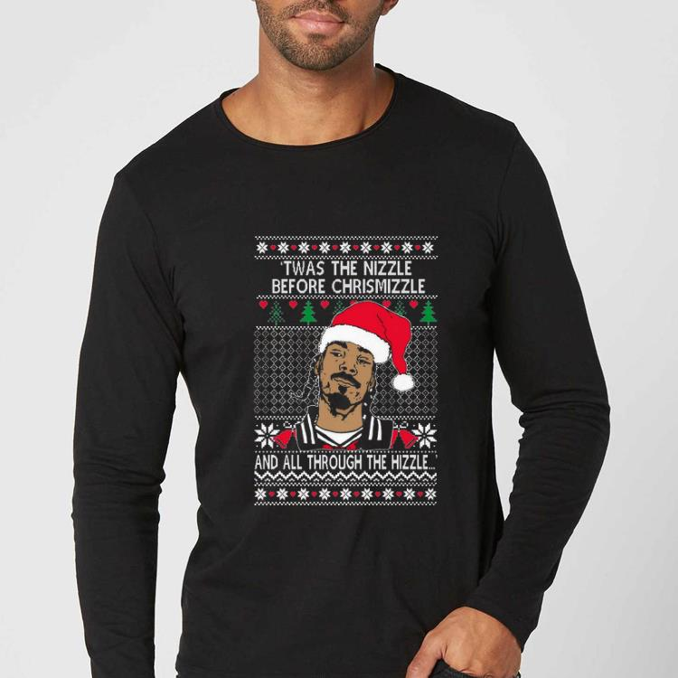 Hot Snoop Dogg Twas The Nizzle Before Christmizzle And All Through The Hizzle Ugly Christmas shirt 4 - Hot Snoop Dogg Twas The Nizzle Before Christmizzle And All Through The Hizzle Ugly Christmas shirt