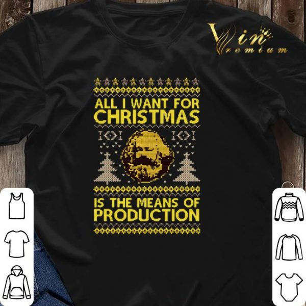 Karl Marx All i want for Christmas is the means of production shirt sweater