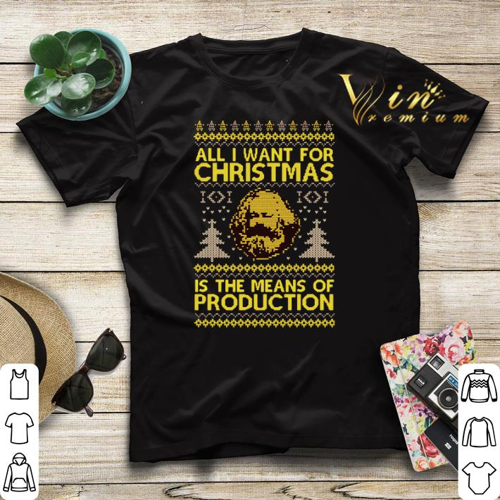Karl Marx All i want for Christmas is the means of production shirt sweater 4 - Karl Marx All i want for Christmas is the means of production shirt sweater
