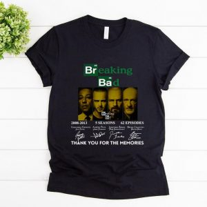 Nice Breaking Bad 2008 2013 5 Seasons 62 Episodes Thank You For The Memories Signatures shirt