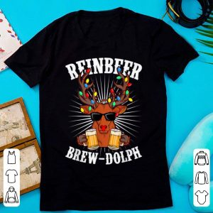 Nice Brewdolph REINBEER Christmas Retro Gifts For Beer Lover shirt