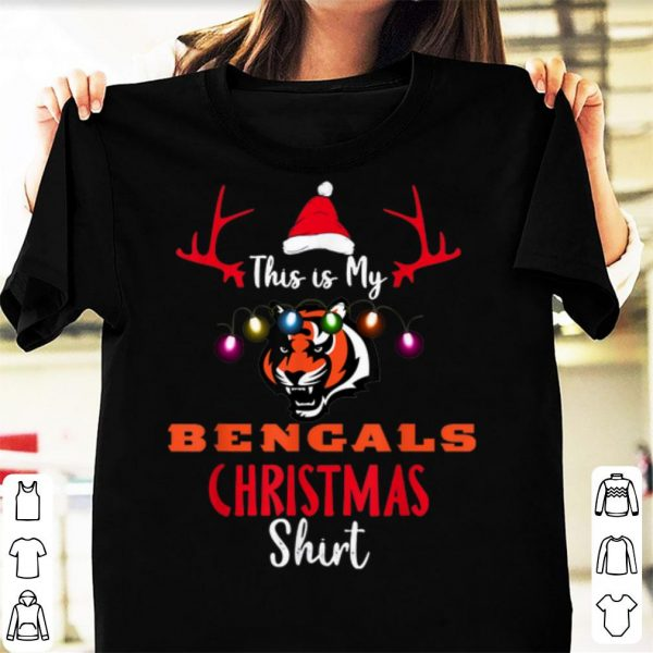 Nice Christmas This Is My Team Football Cincinnati-Bengal Fan shirt