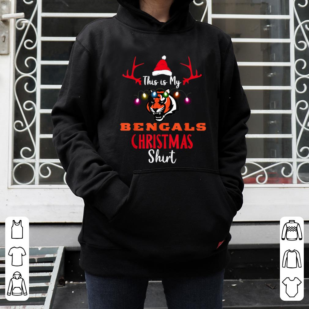 Nice Christmas This Is My Team Football Cincinnati Bengal Fan shirt 4 - Nice Christmas This Is My Team Football Cincinnati-Bengal Fan shirt