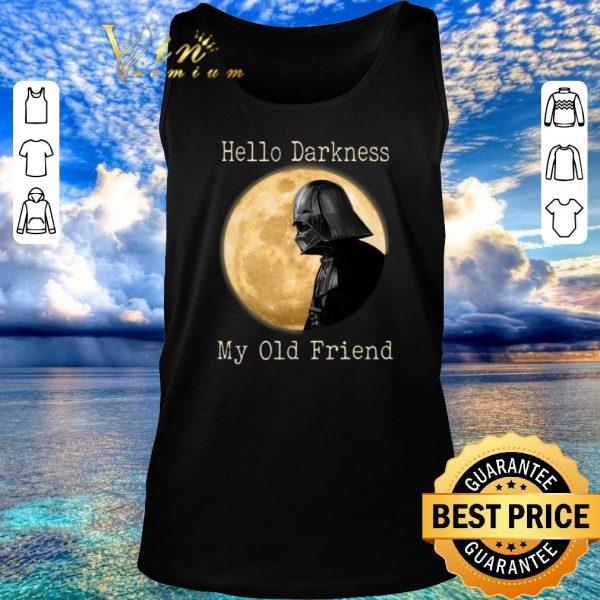 Nice Darth Vader moon Hello darkness my old friend shirt sweater