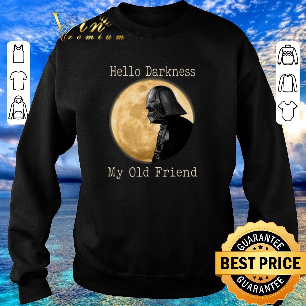 Nice Darth Vader moon Hello darkness my old friend shirt sweater 4 - Nice Darth Vader moon Hello darkness my old friend shirt sweater