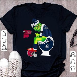 Nice Grinch Seattle Seahawks Los Angeles Rams Arizona Cardinals Toilet shirt