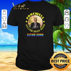 Nice LGBT Elton John Farewell Yellow Brick Road signature shirt sweater 2019
