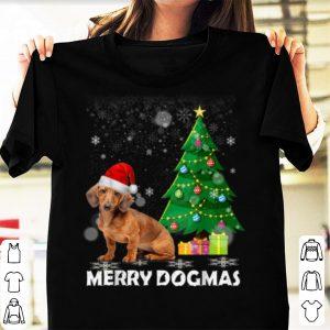 Nice Merry Dogmas Dachshund Christmas dog decor Xmas tree shirt