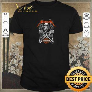 Nice Skeleton Metallica Harley Davidson Logo shirt sweater