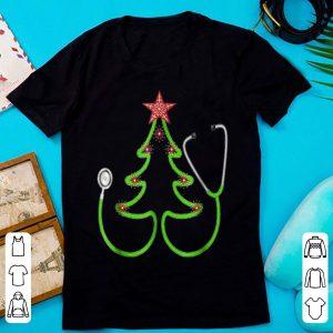 Nice Stethoscope Christmas Tree Merry Christmas Nurse Gift shirt
