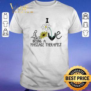 Nice Sunflower I love being a massage therapist shirt sweater