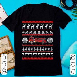 Nice Xmas gift for Firefighter Fireman Fire truck Funny Christmas shirt