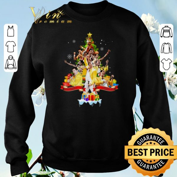 Official Freddie Mercury Christmas tree gifts shirt sweater