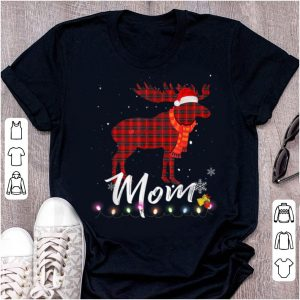 Official Mom Moose Plaid Christmas Pajama Family Matching shirt