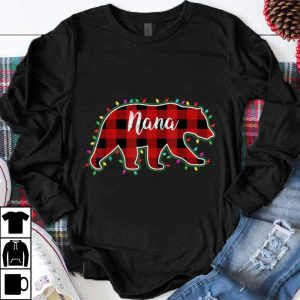 Official Nana Bear Women Red Plaid Christmas Pajama Family Gift shirt