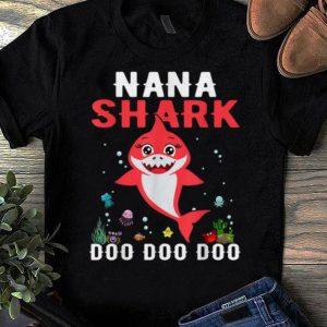 Official Nana Shark Mother Grandma Halloween Christmas shirt