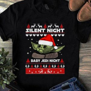Official Silent Night Baby Jedi Knight Baby Yoda Ugly Christmas shirt