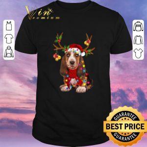 Original Basset Hound santa reindeer Christmas shirt sweater