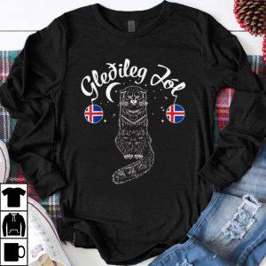 Original Gledileg Jol Iceland Merry Christmas Jolakotturinn Yule Cat shirt