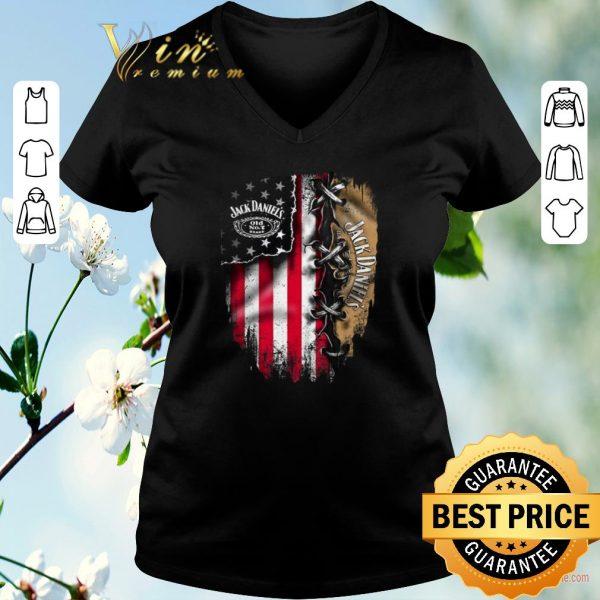 Original Jack Daniel's inside American flag shirt
