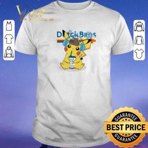 Original Pikachu drinking Dutch Bros Coffee shirt sweater