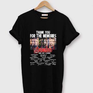Original Thank You For The Memories Avengers 2008-2019 22 Movies Signatures shirt