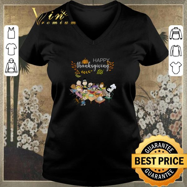 Premium Happy Thanksgiving Peanuts party shirt