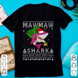 Premium Mawmaw Shark Santa Christmas Family Matching Pajamas shirt