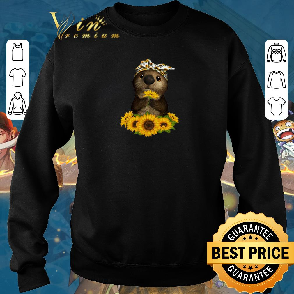 Premium Otter sunflowers shirt sweater 2019 4 - Premium Otter sunflowers shirt sweater 2019