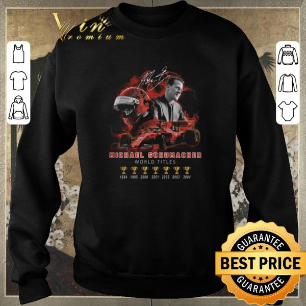 Premium Signature Michael Schumacher 7 cup world titles shirt sweater